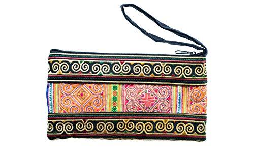 Cotton Rose, Embroidered Clutch, Boho Wristlet, Hippy Purse, Bohemian Purse, Gypsy Purse, Hippie Purses, Phone Wallet, Boho Clutches Bags (BCS Circle)