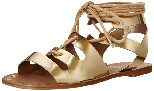 Qupid Women's Athena-914 Gladiator Sandal Gold