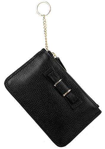 YALUXE Womens Bowknot Leather Keyring