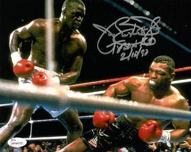James'Buster' Douglas signed 16x20 Photo Tyson KO 2/10/90 (full sig)- Witnessed Hologram (knockout vs Mike Tyson) - JSA Certified Athlon