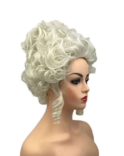 Light Gray Short Wavy Trendy Princess Cosplay Wig for Women 18th Century Marie Antoinette Cosplay Adult Women - Marie Adult Wig