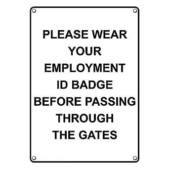 amazon com weatherproof plastic vertical wear your employment id