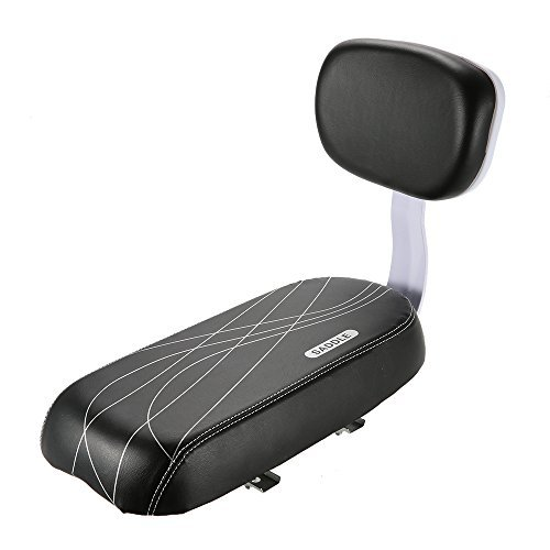 Lixada Bicycle Back Seat MTB PU Leather Soft Cushion Rear Rack Seat Children Seat with Back Rest (Rear Cushion Bicycle Rack)