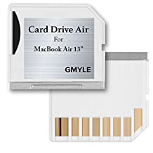 Mini drive Storage, GMYLE Perfect Fit Mircro SD (TF) Flash Memory card Adapter Expansion to SD Slot for Macbook Air 13(White)