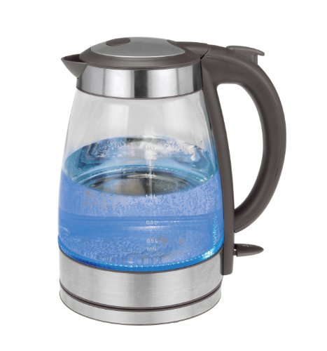 Kalorik JK 39380 GR Glass Water Kettle, Grey, Stainless Steel