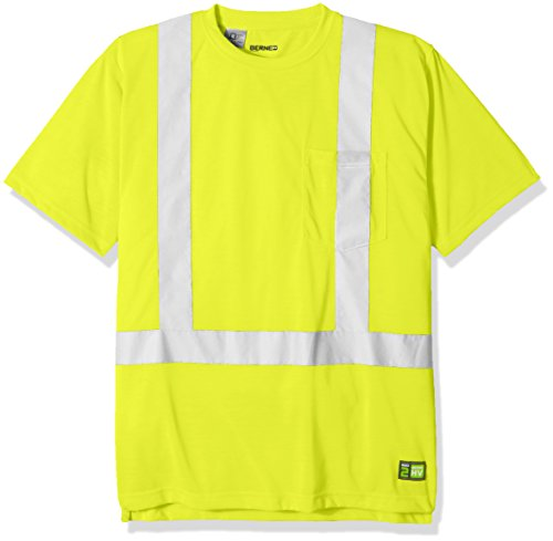 Berne Men's Hi-Visibility Short Sleeve Pocket Tee Shirt, Yellow, (Class Yellow T-shirt)