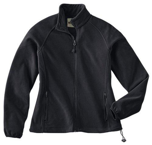 Ladies' Microfleece Unlined Jacket, Color: Black, Size: 2X-Large
