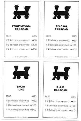 Monopoly Railroad Deed Cards - Reading Railroad, Pennsylvania