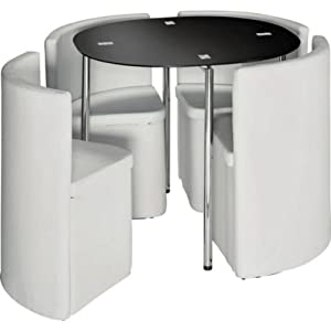 Essentialz Hygena Round Space Saver White Dining Table And