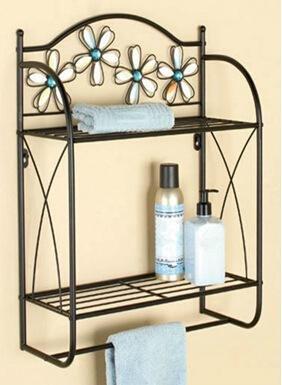 eik zweis etapas cuarto de baño Rack estante tallada pared montado en toalla rack – Estantería