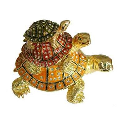 Turtle Pyramid Bejeweled Collectible Trinket Jewelry Box Bejeweled Turtle