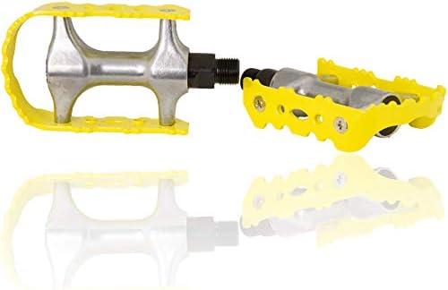 Amarillas Pedales Bicicleta de carreras con pedal Ganchos, color ...