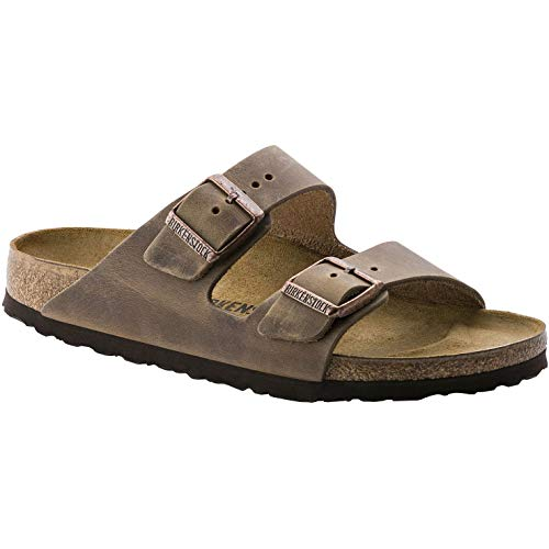 Birkenstock 552811: Unisex Arizona Soft Footbed Tobacco Oiled Leather Sandal (38 M EU) ()