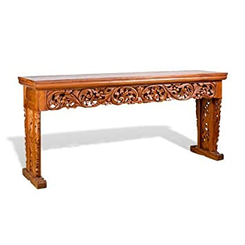 HAND CRAFTED TEAK WOOD CONSOLE TABLE