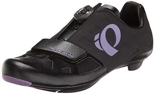 Pearl Izumi Women's W Elite RD IV Cycling Shoe, Black/Purple Haze, 41 EU/9.1 B US