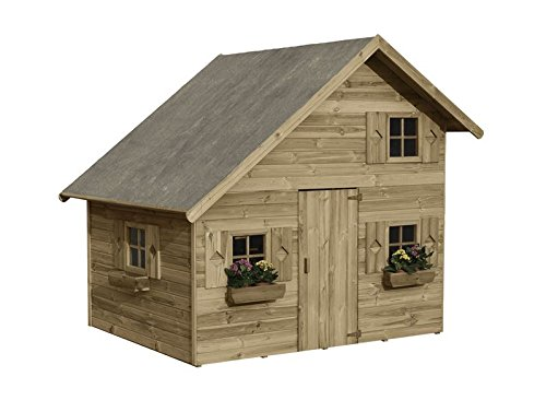 spielhaus amelia kinderspielhaus holz f r den garten fsc zertifieziert t v gepr ft inkl. Black Bedroom Furniture Sets. Home Design Ideas