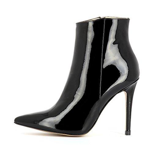 Evita Shoes Alina Damen Stiefelette Lack Schwarz
