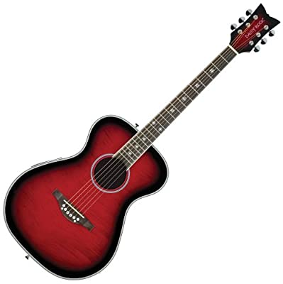 Daisy Rock Pixie Acoustic-Electric RasPhosphor Bronzeerry Burst Guitar