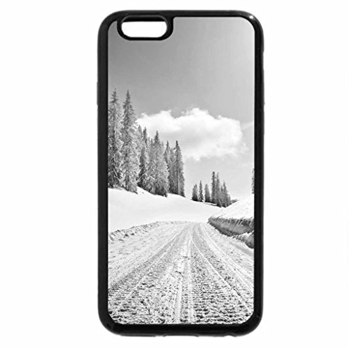 iPhone 6S Case, iPhone 6 Case (Black & White) - Winter road