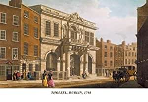 Tholsel Dublin 1798 28x42 Giclee On Canvas
