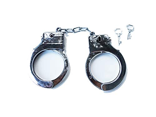 - Police Plastic Toy Handcuffs - Fun for Kids and Adults, Boys or Girls - use as a Toy, Part of a Halloween Costume, Party Favors, or Anything Else You can Imagine! - Set Includes Pair of Keys