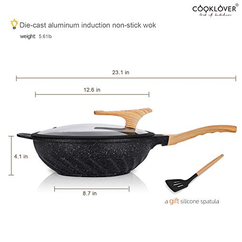 Chinese-Wok-Nonstick-Die-casting-Aluminum-Scratch-Resistant-100-PFOA-Free-Induction-Woks-And-Stir-Fry-Pans-with-Glass-Lid-126Inch59L56lb-Black