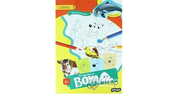 Super Boyama Kitabi 1 Ornege Bak Ve Boya 9786052355534 Amazon
