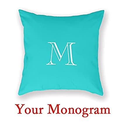 Amazon Monogram Initial Decorative Pillow Covers For Sofa Amazing Monogrammed Throw Pillow Covers