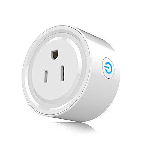 Wifi Mini Smart Socket Plug Compatible with Alexa Google Home,Amazon Echo 220 Volt Smart Plug Bundle Outlet,Wireless Remote Control Power Switch via Android or iOS APP, No Hub Required