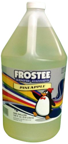 Frostee Snow Cone Syrup, Pineapple, 128 Ounce (pack of 4) (Pineapple Snow)