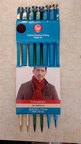 Boye Anodized Aluminum Knitting Needle Set