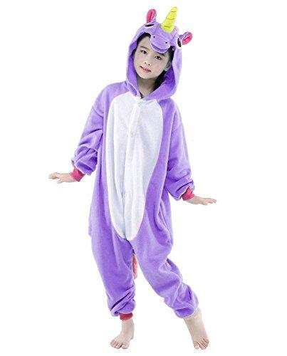 "Kids Pajamas Animal Onesie Unisex Unicorn Halloween Costume Children Cosplay (#85(S) height 90-100cm (35""-39""), Purple (Halloween Costumes 90 Off)"