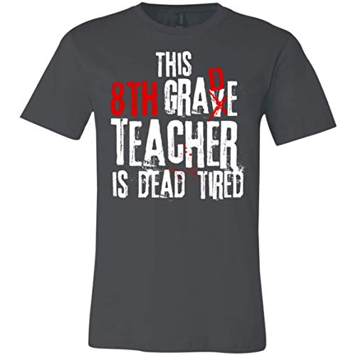 This 8th Grade Teacher is Dead Tired - Halloween - Canvas Unisex Jersey T-Shirt]()