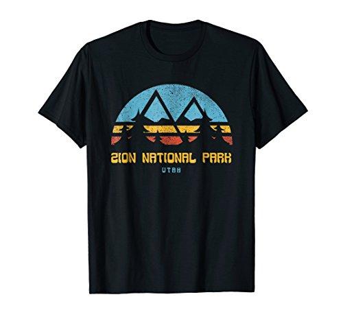 Zion National Park Shirt Utah Retro Vintage Hiking Gift