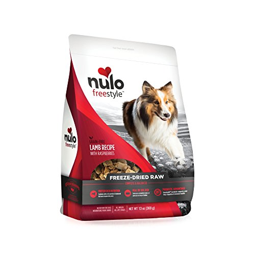 Picture of Nulo Freeze Dried Raw Dog Food For All Ages & Breeds: Natural Grain Free Formula With Ganedenbc30 Probiotics For Digestive & Immune Health - Lamb Recipe With Raspberries - 13 Oz Bag