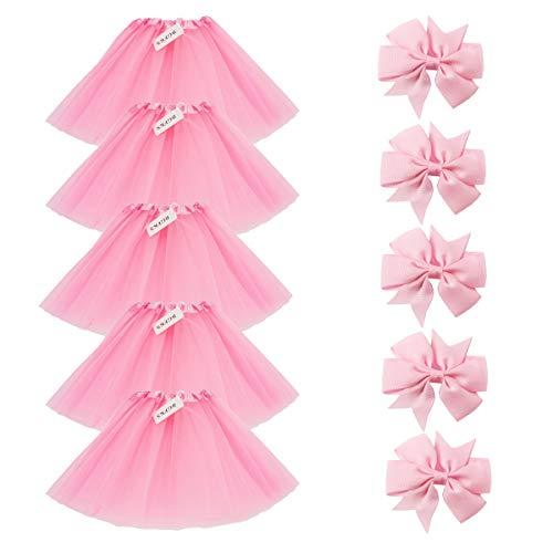 BGFKS 5 Pack Tutu Skirt For Girl Ballet
