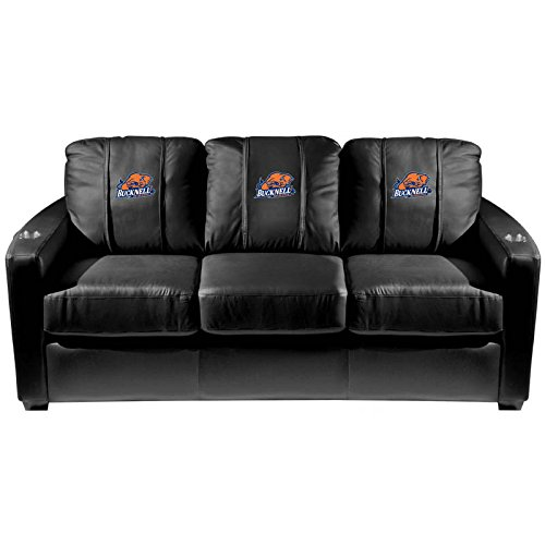 XZipit College Silver Sofa with Bucknell Bison Logo Panel, Black