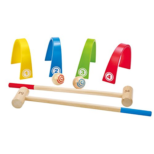 Award Winning Hape Colorful Croquet Wooden Outdoor Backyard Play Set