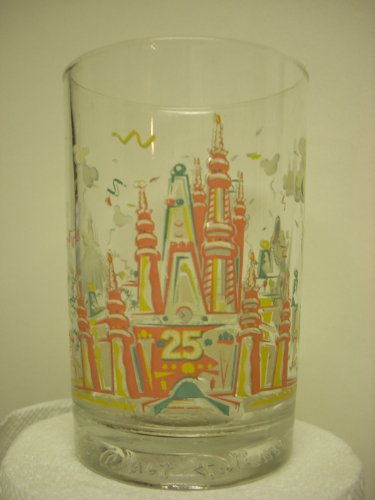 Walt Disney World Magic Kingdom 25th Anniversary Remember the Magic with Donald Duck Collectors Glass Cup Mug