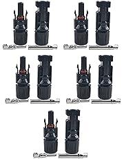 Daerzy Par Masculino/Feminino Painel Solar Conectores de Cabo Anéis de Vedação Dupla para Melhor Efeito À Prova D 'Água IP67