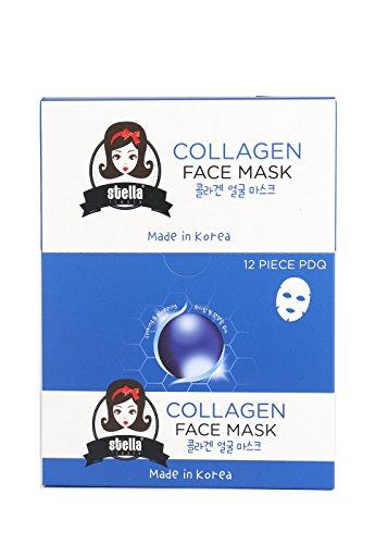 STELLA Aloe Vera Face Mask ,Anti-aging, Anti-Wrinkle, Deep Hydration (12 pcs) (Diy Bane Mask)