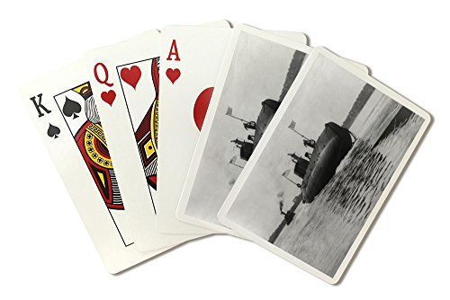 Launch of Navy Submarine Snapper Photograph (Playing Card Deck - 52 Card Poker Size with Jokers)