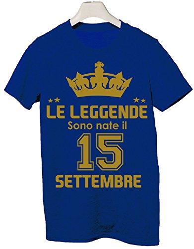 Idea Tshirt Sono Le Compleanno 15 Nate Evento Leggende Il Blu Regalo Settembre qrqSgzx