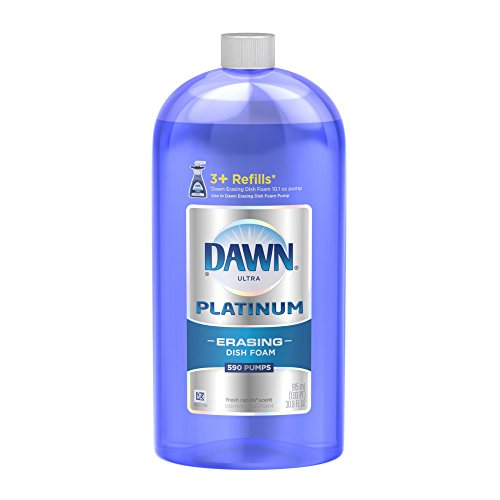 Dish Platinum (Dawn Platinum Erasing Dishwashing Foam Refill Fresh Rapids Scent 30.9 Fl Oz)