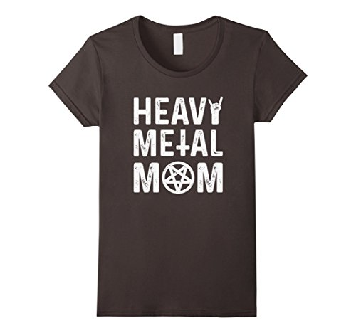 Metal Band T-shirt (Womens Heavy Metal Mom Vintage Band Music Concert Mother T-Shirt XL Asphalt)
