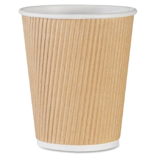 Price comparison product image Genuine Joe GJO11256CT Insulated Ripple Hot Cup, 10-Ounce Capacity (Pack of 500)