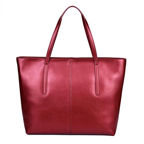 YanRun - Bolso mochila  para mujer multicolor dorado Red