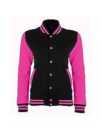 Awdis Just Hoods Womens/Ladies Electric Varsity Jacket