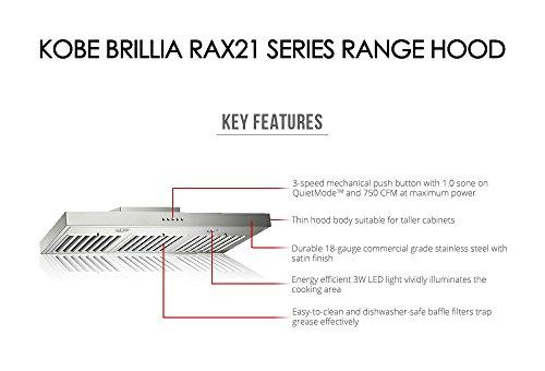 Amazon Kobe Rax2130sqb 1 Brillia 30 Inch Under Cabinet Range