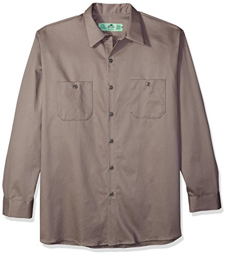 (Red Kap Men's Wrinkle-Resistant Cotton Work Shirt 2, Graphite Grey, Large )